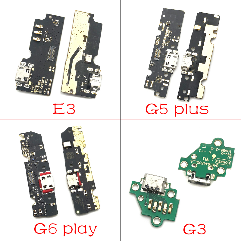 For Motorola Moto M E3 E4 E4T E5 G3 G4 G5 G6 P30 Play Plus X4  USB Charging Port Micro Dock Connector Board With Microphone