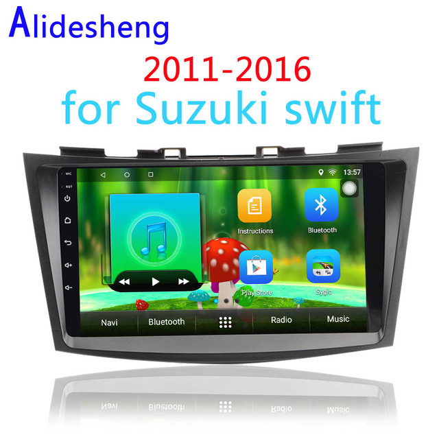 US $157 51 34% OFF|Quad core Android 7 1 Car DVD Audio and video multimedia  player for Suzuki swift 2011 2012 2013 2014 2015 2016 gps car radio -in