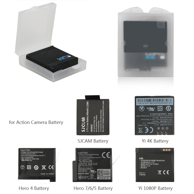 Protective Storage Box Battery Cover Case For GoPro Hero 6 5 4 SJCAM Xiaomi Yi
