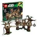 1990 unids Lepin Aldea Ewok Star Wars Juguete para Construir Bloques de Construcción Juguetes de los Ladrillos de Regalo de Navidad Compatible legoest 10236