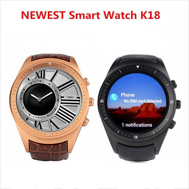 US $118 0 |3G Smart Watch Clock Phone Finow K18 Android 4 4 Support SIM  Card GPS WiFi Bluetooth OLED Display SmartWatch For Android Phone-in Smart