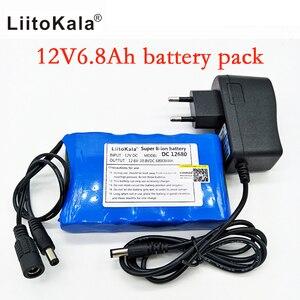 Image 2 - Портативный суперперезаряжаемый комплект литий ионных батарей Liitokala, постоянный ток 12 В 12,6 В, аккумулятор 6800 мАч, камера видеонаблюдения