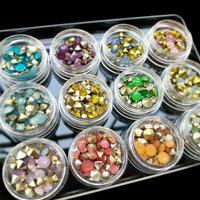 New 1 Set Hot Fashion Pointed Back Opal Colors Nail Art Resin Crystal Top Quality Nail