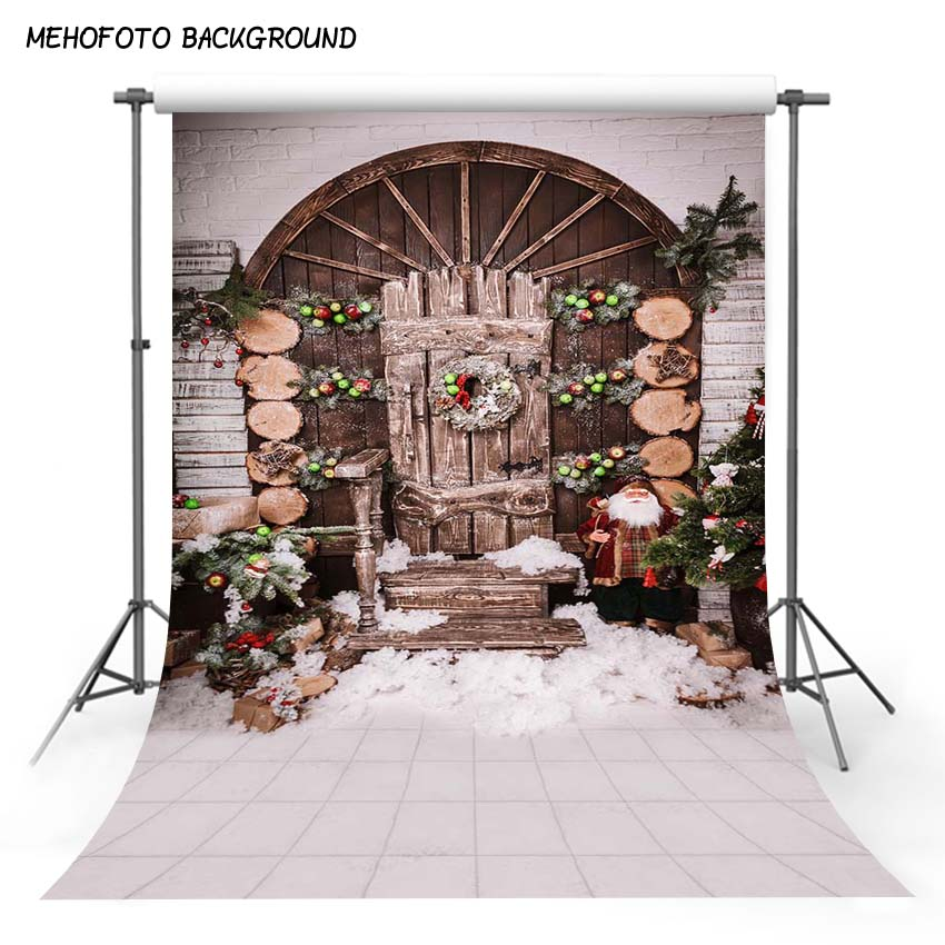 MEHOFOTO 5X7FT Christmas Photography Backdrops Children Photo Props Photo Background Studio ST-599 christmas background for baby photo studio props vinyl wooden floor photography backdrops 5x7ft or 3x5ft jiesdx028
