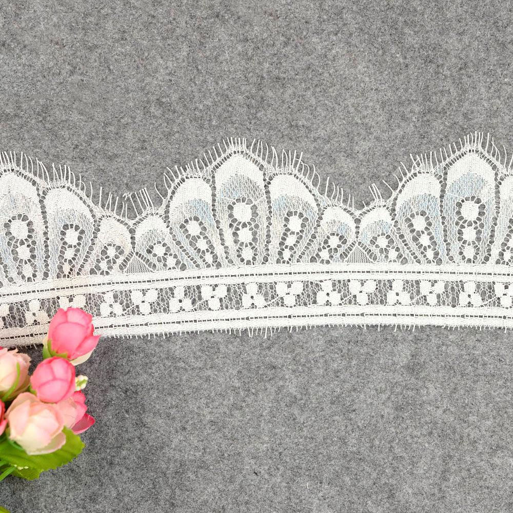 ZOTOONE 9*300cm Home Needlework Accessories Eyelash White Lace Fabric Lingerie Dress Ribbon Guipure French E