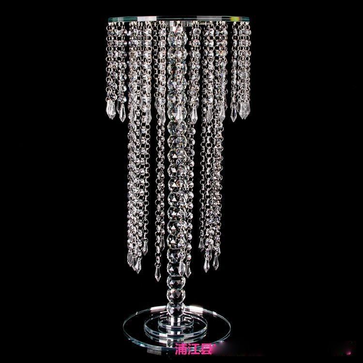 R$ 3387 57 |VIP 30/40/60 cm de altura vaso Peça Central Do Casamento De  Acrílico Cristal/castiçal de cristal Decoração Do Casamento estrada