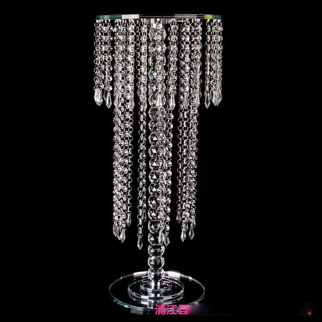 VIP 30 40 60 Cm Tall Acrylic Crystal Wedding Centerpiece Vase Candlestick