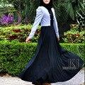 2016 новых женских мусульманской абая дубай мусульманские женщины одеваются, Подарок, Исламский абая двубортный платье, Джилбаба Большой размер