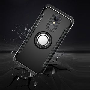 Image 4 - Shockproof Phone Case cover For Xiaomi  6 6X For Redmi Note 5 4X Hybrid Magnetic Bracket Cover car Ring Holder Cover TPU