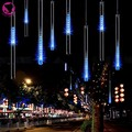 Nueva Llegada! LED Azul 50 CM lluvia de Meteoros Lluvia Tubos Luz de Navidad Vacaciones de Navidad Decoración Lámpara 100-240 V/EE. UU.