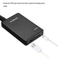 UDOLI 60 W Double USB Type-C De Bureau Portable Ordinateur Portable adaptateur Chargeur pour Macbook 12 Pouces, ChromeBook Pixel, Razer Lame Furtif