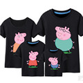 Pepe Pig & George Pig t shirts Family matching clothes summer Father Mother Kids Outfits family cotton short sleeve tee shirts