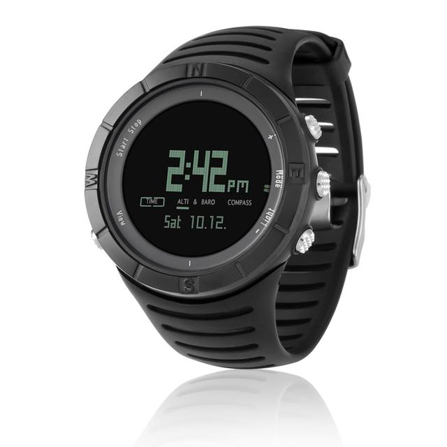 Nuevos deportes al aire libre reloj digital cronógrafo/barómetro/altímetro/termómetro/brújula moda hombre mujer reloj spovan spv806