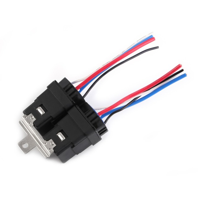 1 Set 12v DC 40A 4Pin Automobile Relay Wire Waterproof Integrated ...