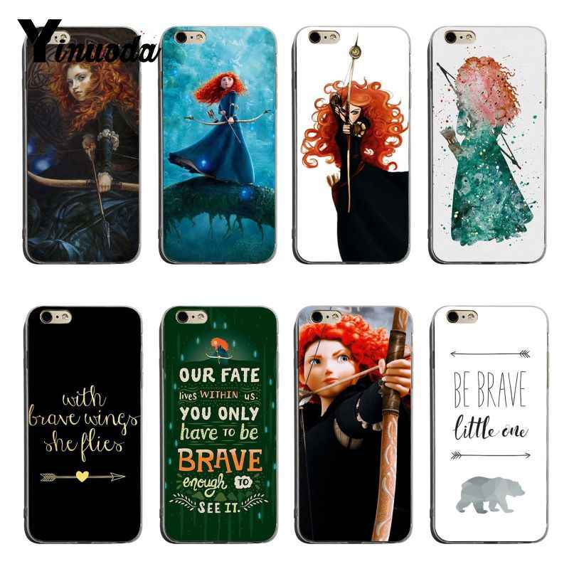 Yinuoda Putri Pemberani Film Merida Archer DIY Colorful Printing TPU Phone Case untuk Iphone 6 Plus 7 Plus 8 PLUS X XS XR Coque Shell