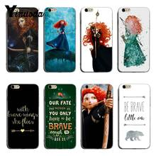Filme Admirável Princesa Merida Yinuoda Archer Diy Colorido Impressão TPU caso de telefone Para o iphone 8 7 6 plus plus plus X XS XR Coque Shell(China)