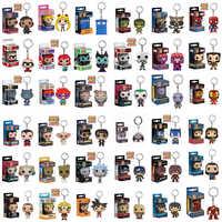 FUNKO POP nuevo llavero POP de bolsillo superhéroe oficial personajes de Anime figura de acción coleccionables juguetes modelo para regalos con caja