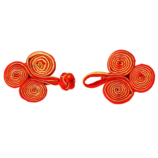 50set Craft Handmade Red Gold Fabric Braid Button Sew On Chinese ...