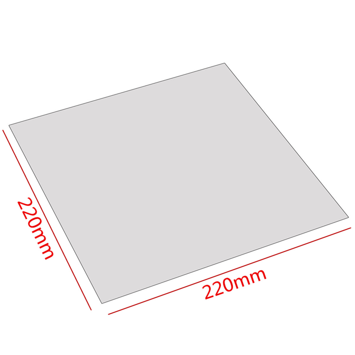 New Arrival 220x220x0 8mm PEI Sheet Polyetherimide Build Surface 3D Printer With Adhesive