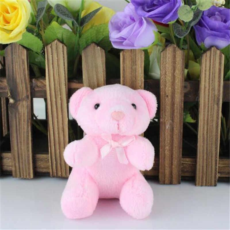 1 sztuk pluszowe zabawki-niedźwiadki mały wisiorek mały uroczy miękkie nadziewane niedźwiedzie zabawki aktywność ślubna prezenty lalki dla dzieci 8.5CM