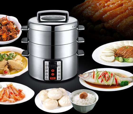 Large Electric Food Steamer ~ Electric steamer microcomputer large