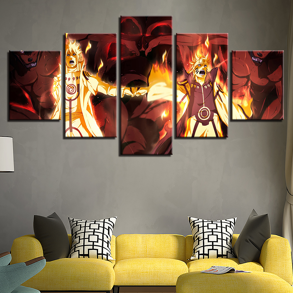 Canvas Painting Wall Art Modern Home Decor 5 Pieces Anime ...