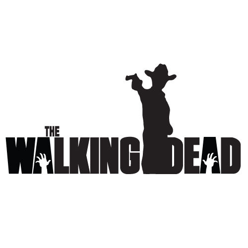The walking dead rick with machine gun 8 vinyl decal waterproof wall sticker black individual