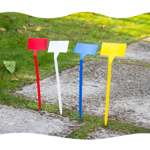 T-Type Upturned Marker Plant Labels Tags Plastic Seedl Nursery Garden Stick