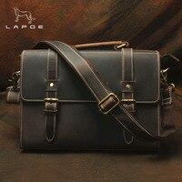 DWOY деловой мужской портфель Crazy Horse из натуральной кожи мужская сумка сумки винтажные мужская сумка для ноутбука сумки на плечо