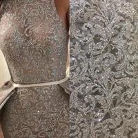 Ткань с блестящим кружевом Прямая продажа с фабрики Сияющий и высокого класса Цвет по индивидуальному заказу