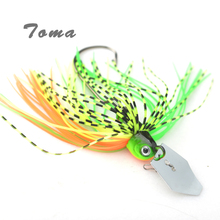 TOMA 3PCS/lot Cheater Swimbaits Spinner Fishing Lures 7g 10g 14g Finesse Chatter Spinnerbait Metal Lure Fishing Bass Bait