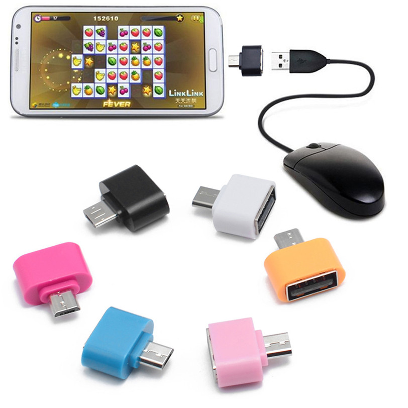 Mini Micro USB To USB OTG Adapter Converter For Android SmartPhone 6 colours reliable micro usb to otg mini adapter converter for android smartphone extended jack