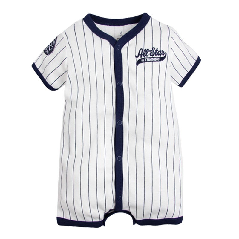 Summer Style Baby Clothes   Rompers   Boys infant Jumpsuit Baby Clothes bebe Outfits Toddler Cool Sports Baseball   Rompers   Overalls