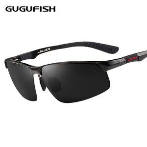 GUGUFISH الألومنيوم المغنيسيوم الاستقطاب النظارات الشمسية الذكور الصيد نظارات الترفيه الرياضة الصيد نظارات ركوب نظارات شمسية