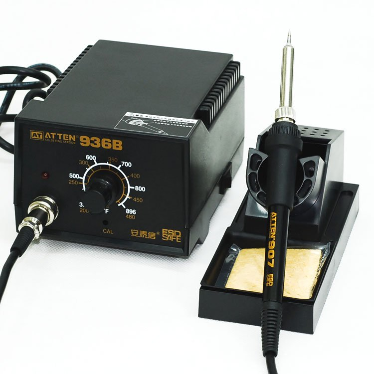 ATTEN AT936b Solder Iron Welding Station original quality goods 50w atten at936b soldering station solder iron at 936b welding station for bga welding accessory