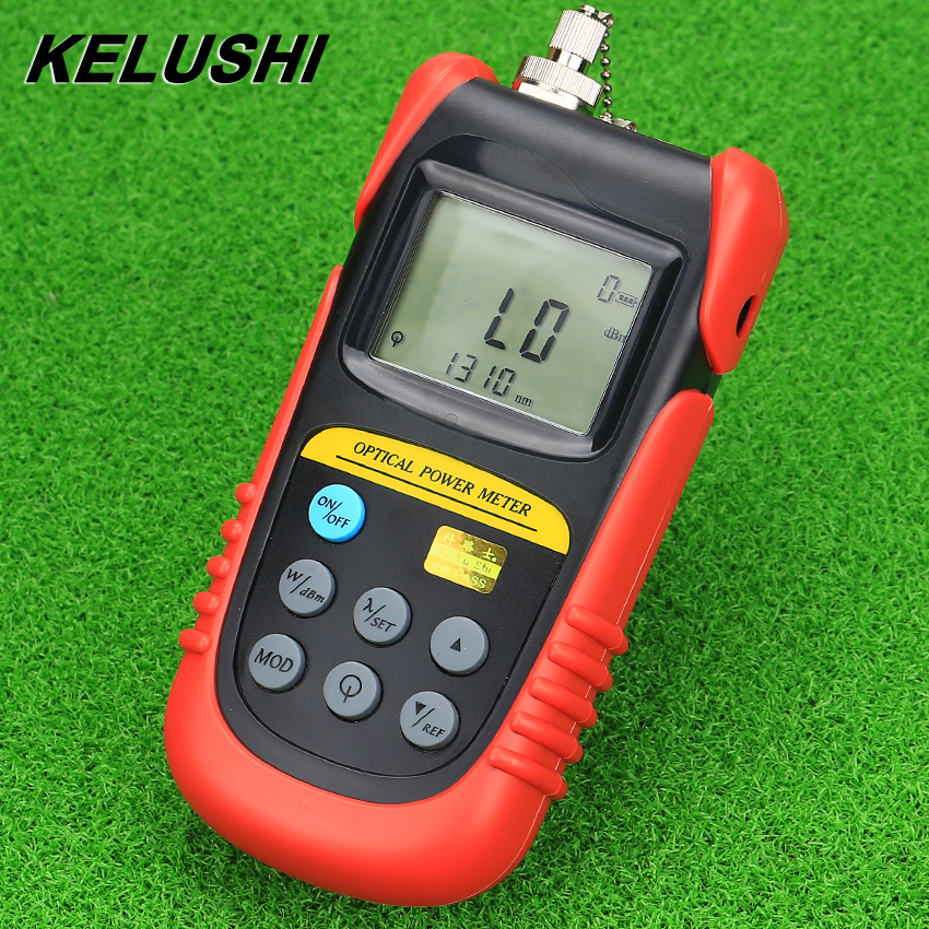 KELUSHI High performance TBM-70A Fiber Optic Power Meter Fiber Optical Cable Tester SC / FC Connector Network Light Power Meter