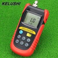 KELUSHI High performance TBM 70A Fiber Optic Power Meter Fiber Optical Cable Tester SC / FC Connector Network Light Power Meter