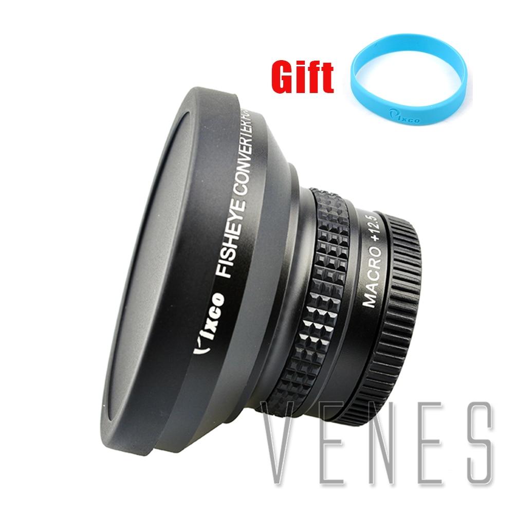 лучшая цена Pixco 37mm 0.25X Super Fisheye Wide Angle Lens +with Lens wrist strap