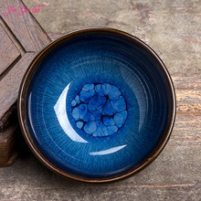 Jia-gui lu New 1PCS Jingdezhen Tianyan Tea Red Glaze China Porcelain Traditional Skills Gentle  Cup Set Bowl