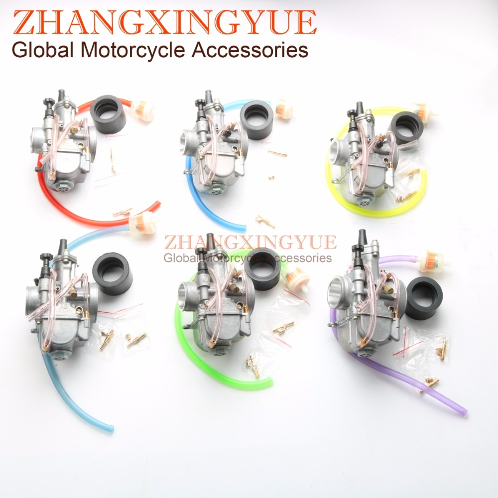 High-performance carburetor 21mm /24mm/26mm/28/30mm/32mm Carburetor for OKO PWK Power Jet Racing Scooter Dirt Pit Bike ATV