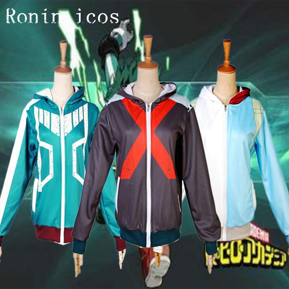 New My Hero Academia Boku no Hero Academia Cosplay costumes Anime Hoodie Midoriya Izuku Bakugou Katsuki Coat Jackets Sweatshirt