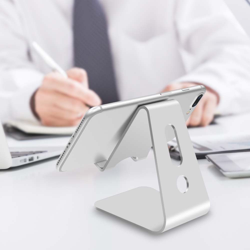 Image 4 - Vogek Mobile Phone Holder Stand Aluminium Alloy Metal Tablet Stand Universal Holder for iPhone X/8/7/6/5 Plus Samsung Phone/ipad-in Phone Holders & Stands from Cellphones & Telecommunications