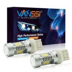 VANSSI 2 шт. T20 7440 W21W 7441 7443 7444 W21/5 Вт светодиодный лампы для автомобилей LADA размер лампы Супер яркий белый янтарь DC12-24V