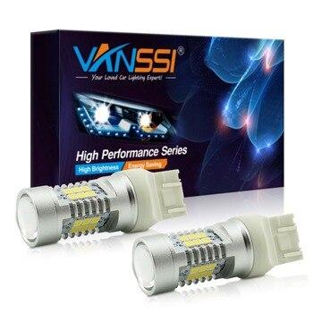 VANSSI 2xT20 7440 7443 W21/5W żarówka LED do LADA wymiar światła P21W Ba15s PY21W 1157 Bay15d Baz15d P21/5W LED biały czerwony żółty