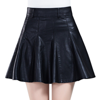 Leather Short Skirt Female 2015 High Waist Skirt Small Leather Autumn And Winter Thickening Bust Skirt