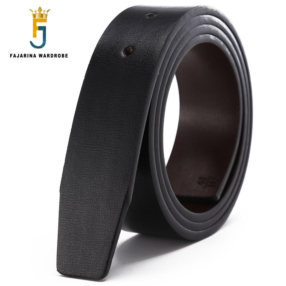 FAJARINA Double Sided Second Layer Quality Genuine Cowhide PU Leather for Smooth Slide 3.3cm Belts Men without Buckle LUBT16