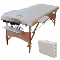 New 84 L Portable Massage Table Facial SPA Bed Tattoo W Free Carry Case White Free