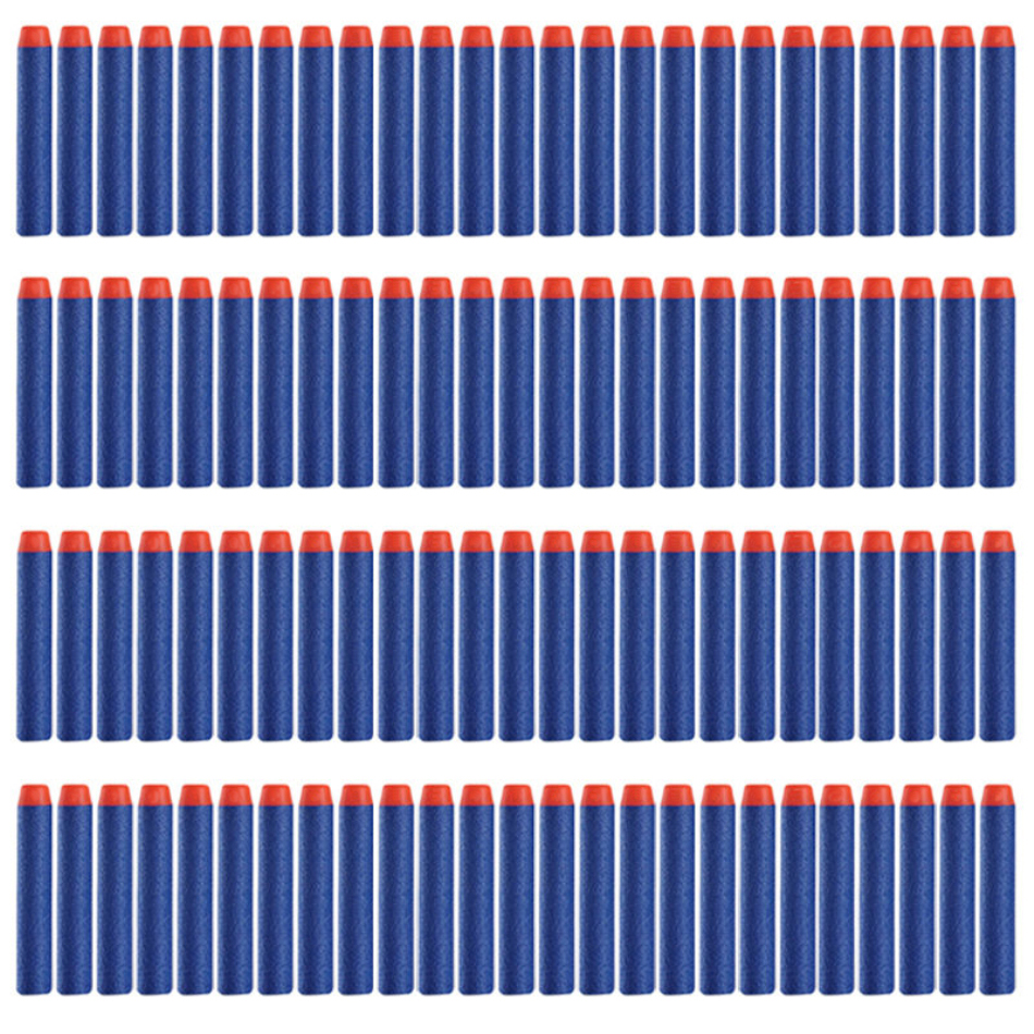 10/30/50/100PCS For Nerf Bullets Soft Hollow Head 7.2cm Refill Darts Toy Gun Bullets for Nerf Series Blasters Xmas Children Gift