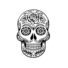 10.5*15.2CM Funny Car Stickers Flower Skulls Interesting Vinyl Car Decorative Accessories Black/Silver C7-1090(China)