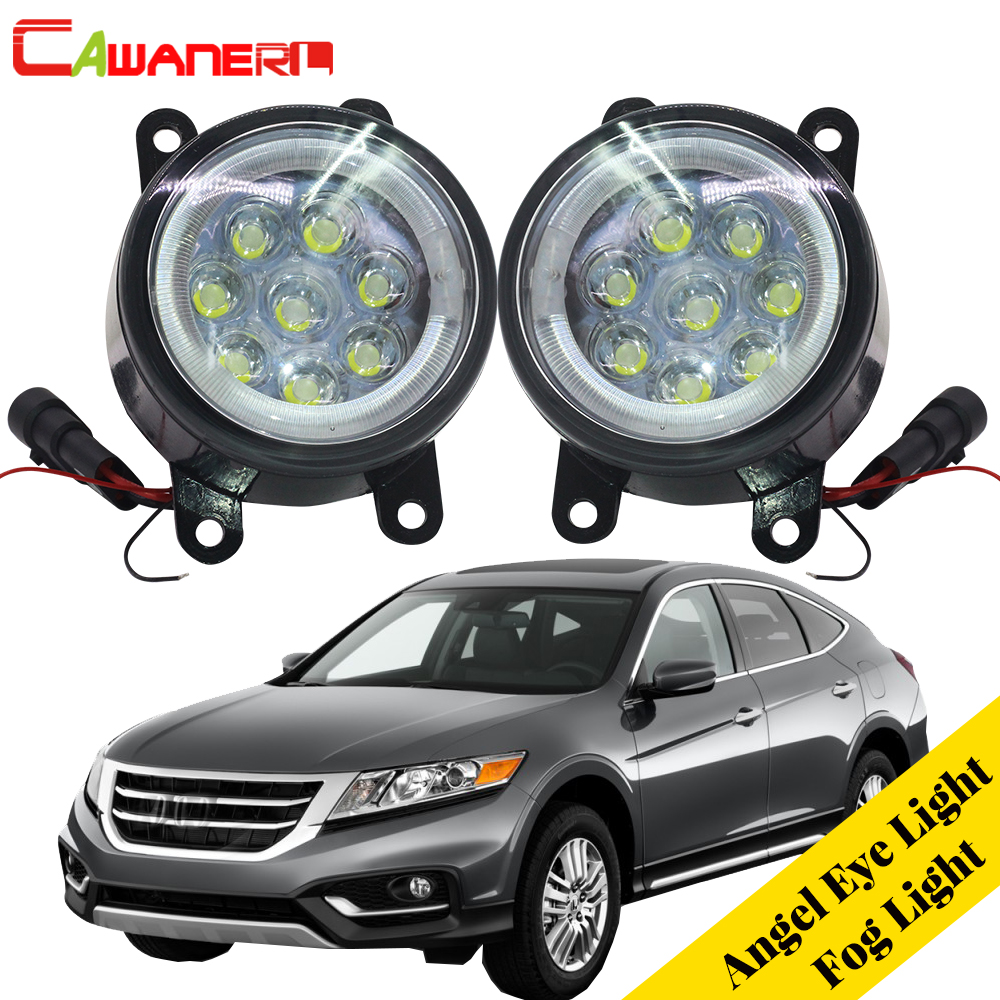 Cawanerl 2 X Car LED Fog Light Lamp Angel Eye DRL Daytime Running Light 12V Styling For 2013 2014 2015 Honda Crosstour car styling daytime running light 2013 for honda crz led fog light auto angel eye fog lamp led drl high